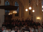 Drie mannenkoren concert